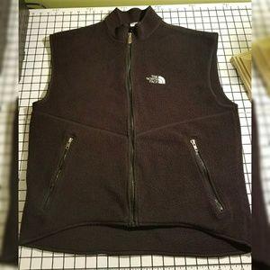 Women's large The North Face fleece zip vest
